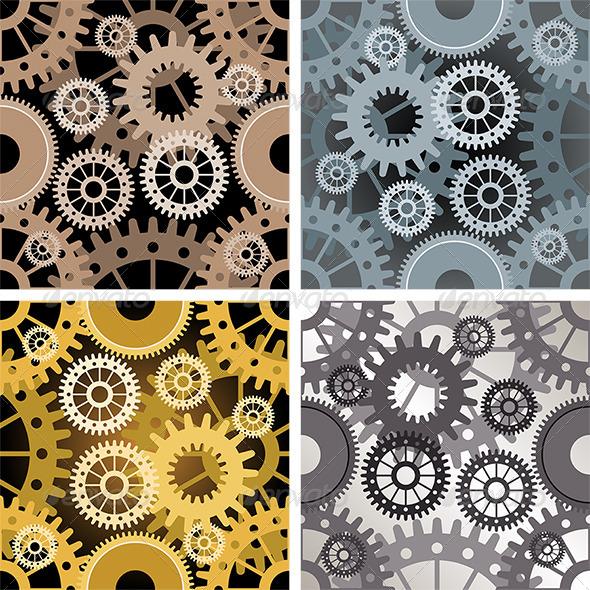 Seamless Gear Pattern - Patterns Decorative