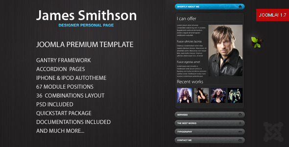 James – Premium Joomla Template