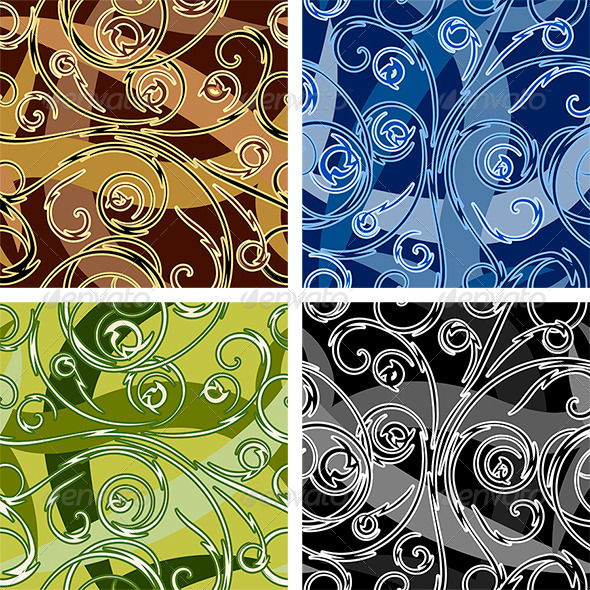 Seamless Swirl Pattern - Patterns Decorative