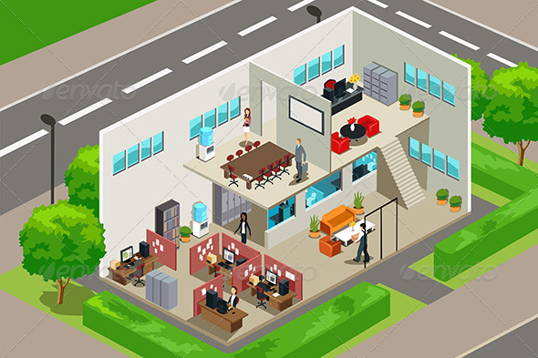 Business Office - Buildings Objects