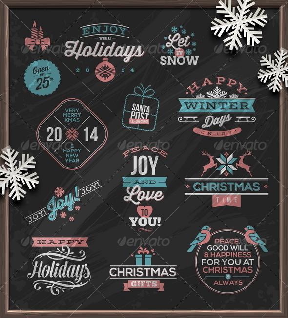 Christmas Holidays Signs, Emblems and Greetings  - Christmas Seasons/Holidays