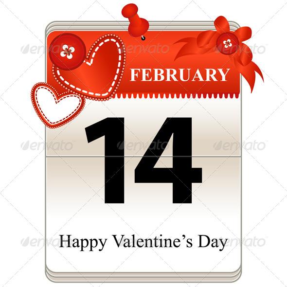 Valentines Day Calendar - Valentines Seasons/Holidays