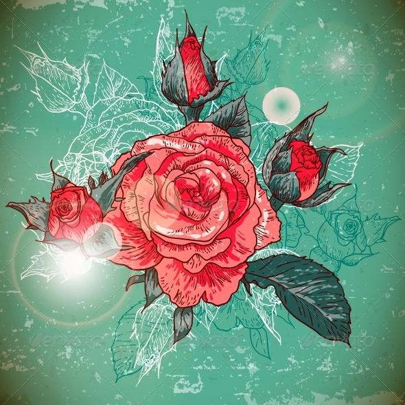 Rose Background - Patterns Decorative