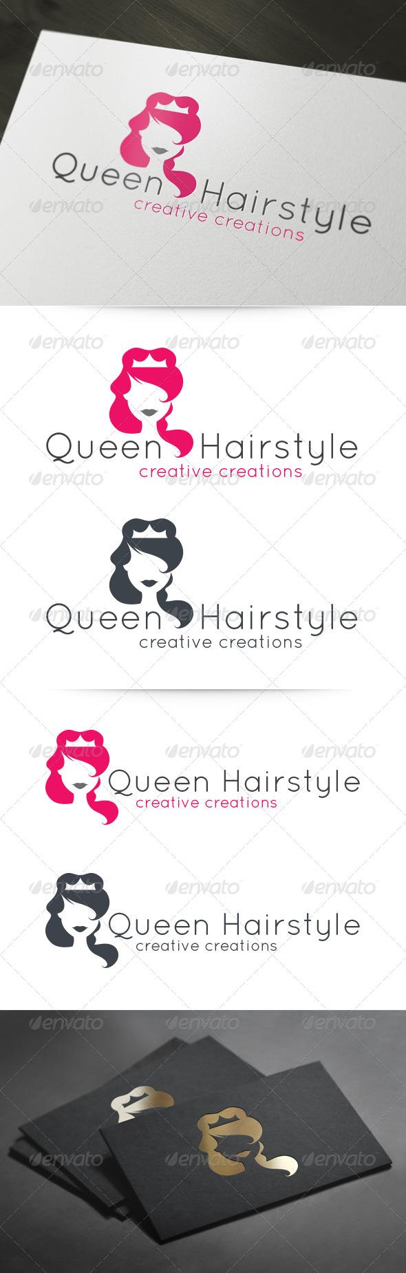 Queen Hairstyle Logo - Humans Logo Templates
