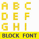 Pixel Block Font - GraphicRiver Item for Sale