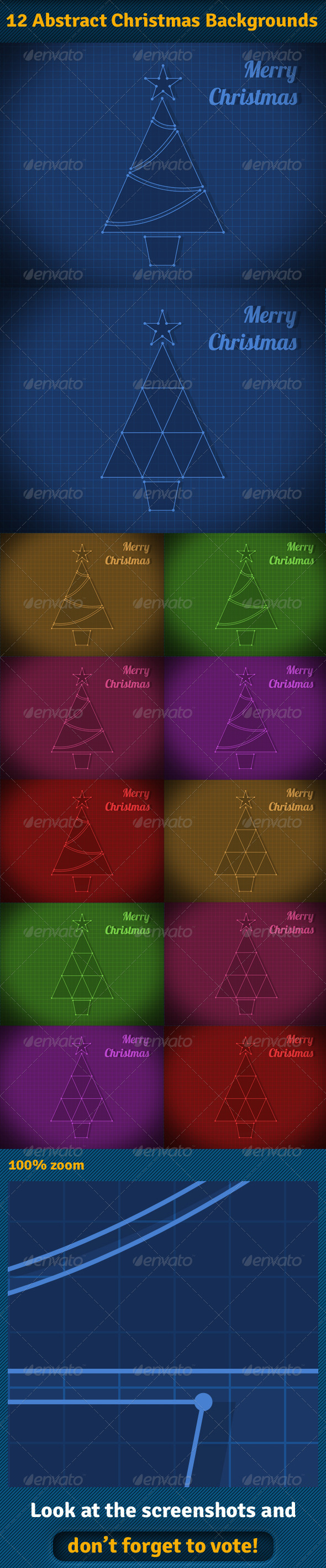 Abstract Christmas Backgrounds - Abstract Backgrounds