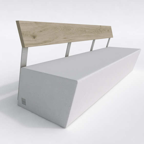 Outdoor Bench- Escofet ZUERA - 3DOcean Item for Sale