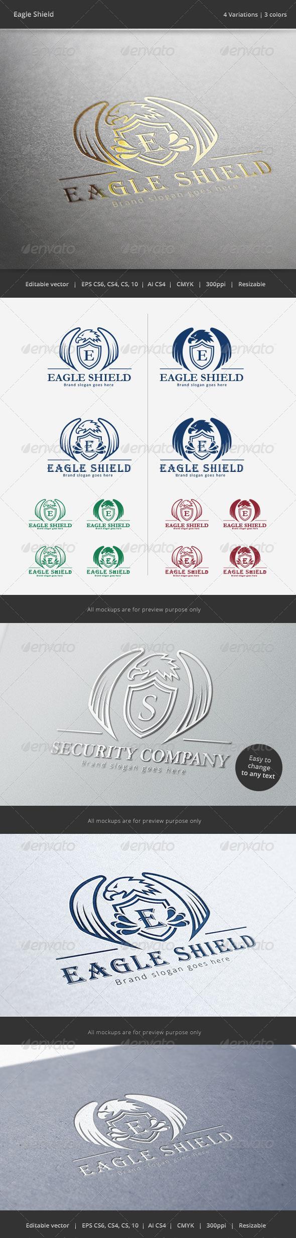 Eagle Shield Crest Logo - Crests Logo Templates