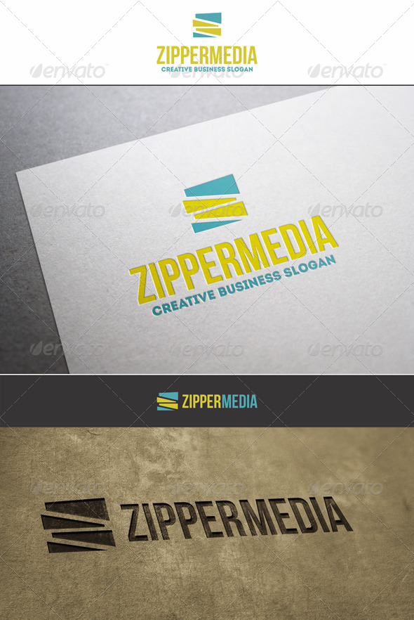 ZigZag Zipper Media Logo - Letters Logo Templates