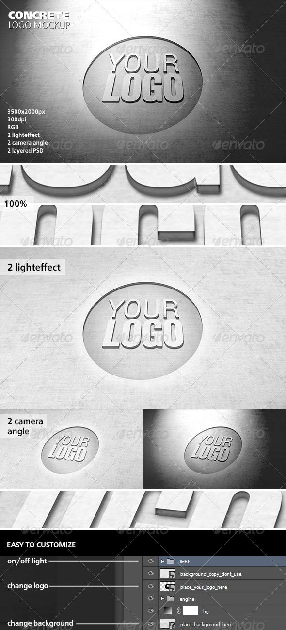Concrete Logo Mockup - Logo Product Mock-Ups