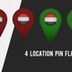 Yamen Flag Location Pins Red And Green - VideoHive Item for Sale