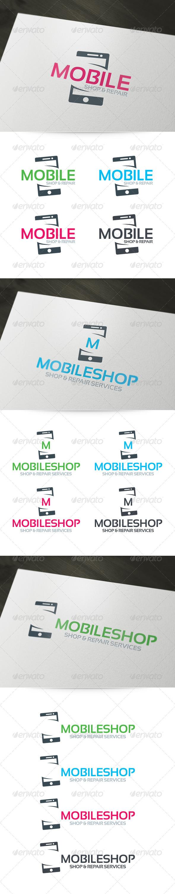 Mobile Shop & Repair Logo - Objects Logo Templates