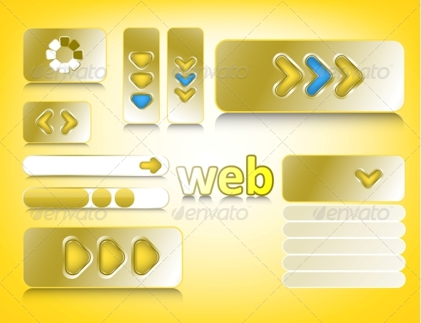 Web Design Elements - Web Elements Vectors