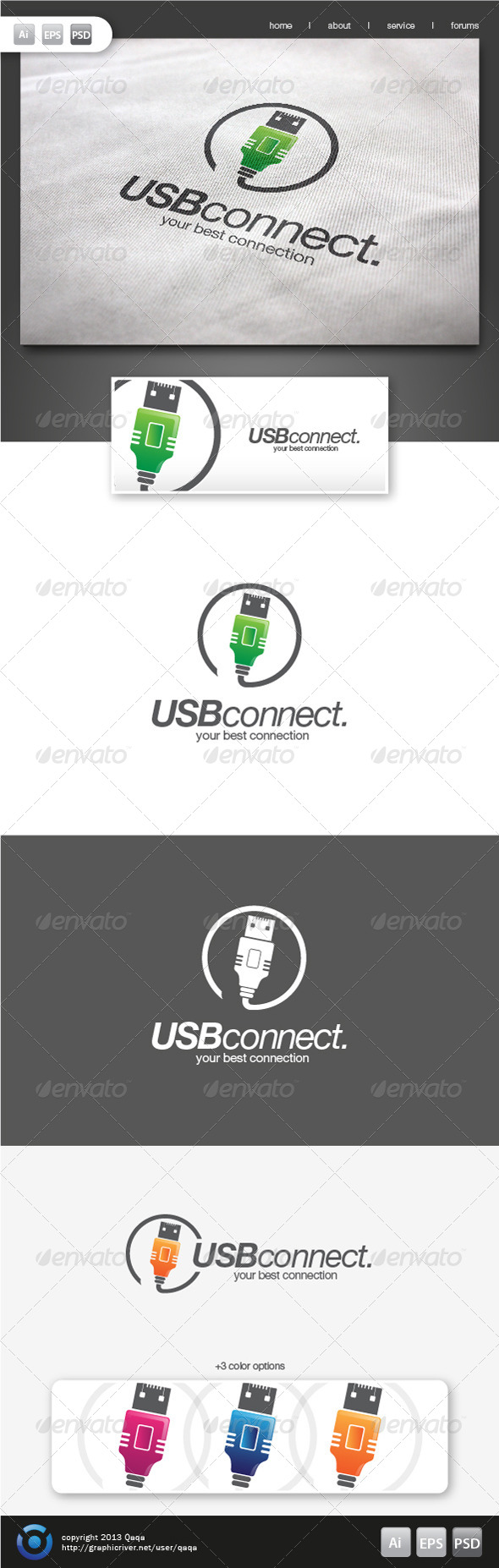 USB Connect Logo - Objects Logo Templates