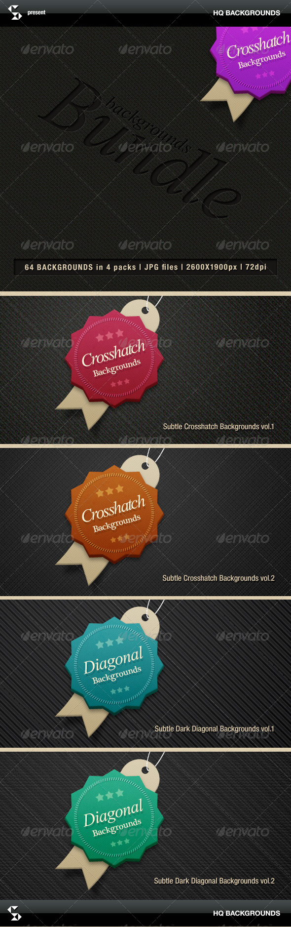 Subtle crosshatch backgrounds bundle - Patterns Backgrounds