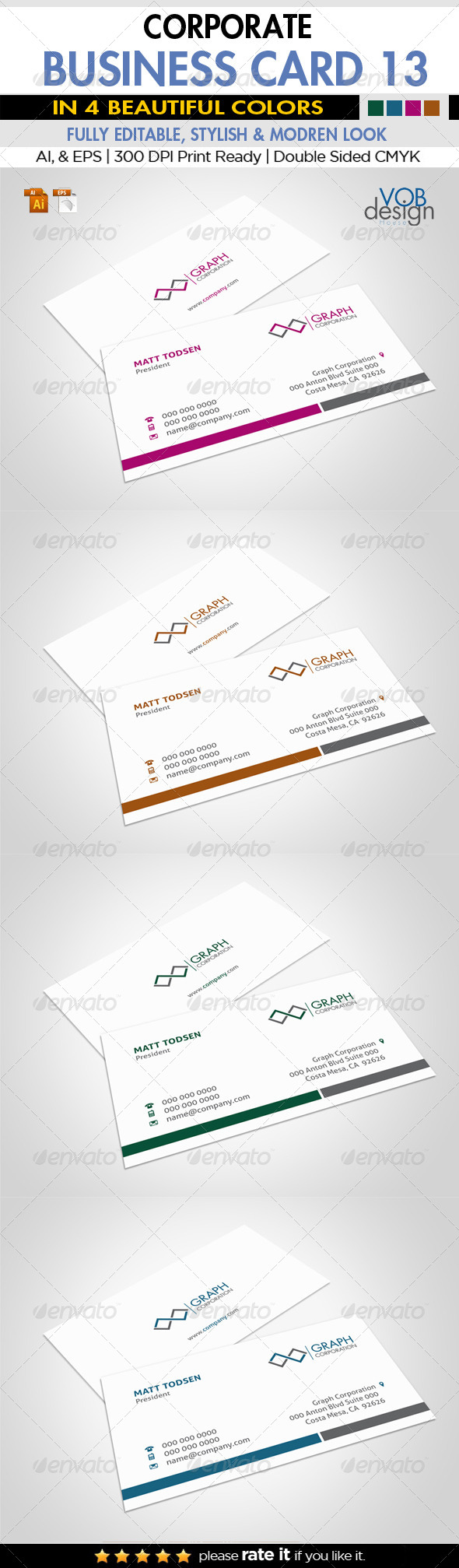 Corporate Business Card 13 - Business Cards Print Templates