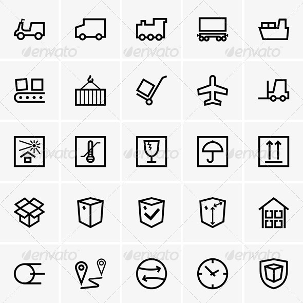 Shipping and Logistics - Decorative Symbols Decorative