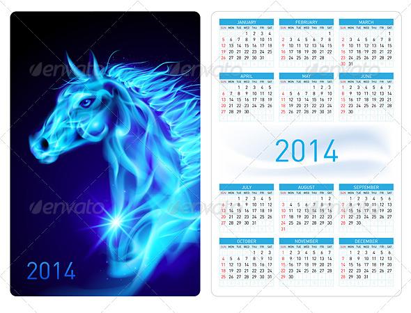 Calendar 2014 - Miscellaneous Vectors