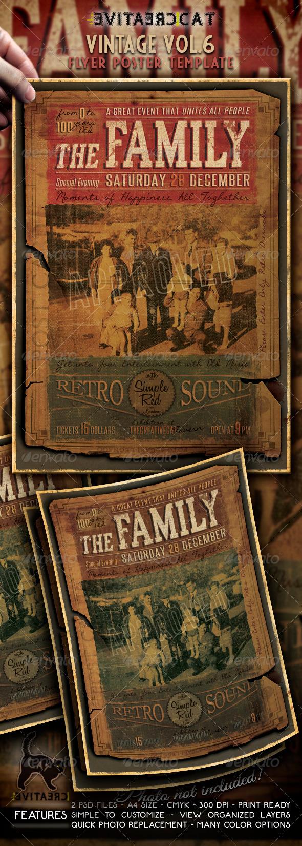 Vintage Flyer/Poster Vol. 6 - Events Flyers