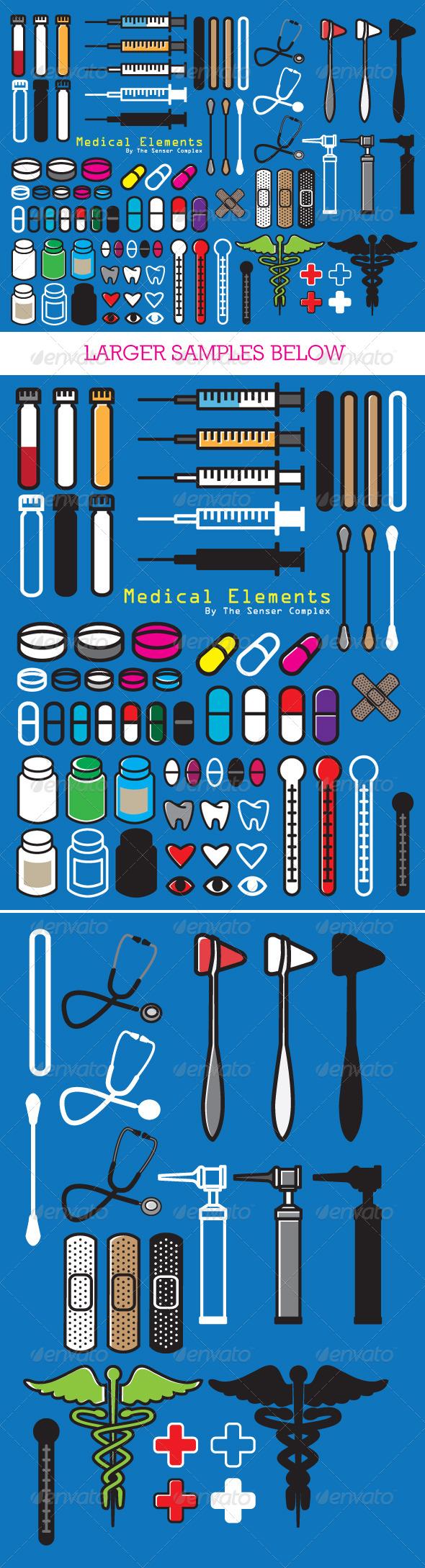 Medical Elements - Health/Medicine Conceptual