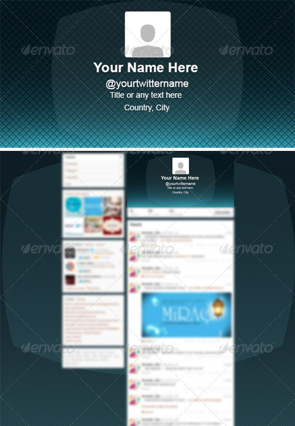 Professional Clean Twitter Background PSD - Miscellaneous Web Elements