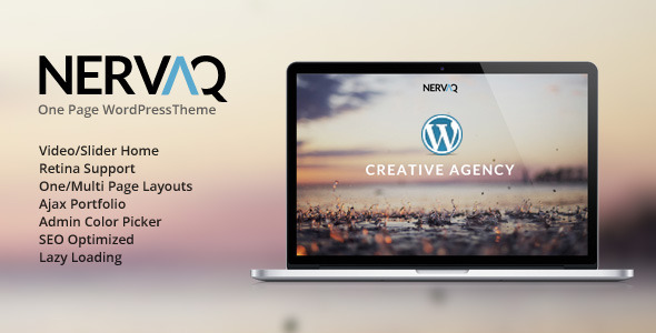 Nervaq – Responsive One Page WordPress Theme