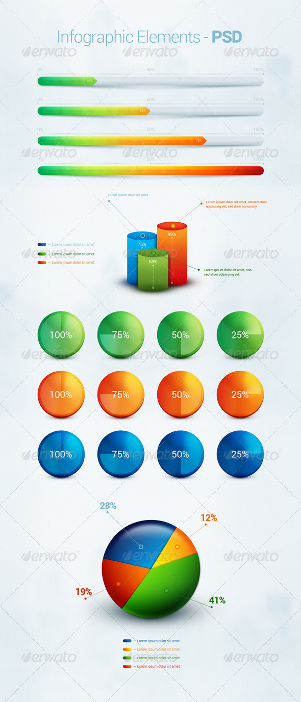 Infographic Element - PSD - Infographics