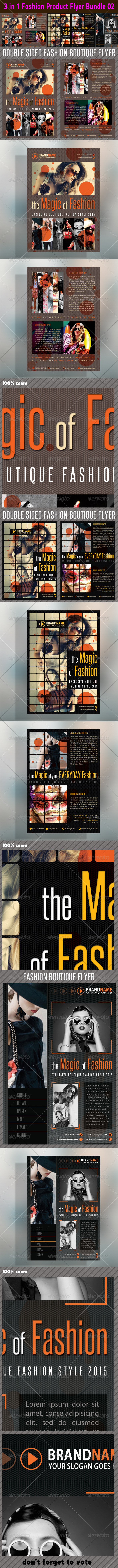 3 in 1 Fashion Product Flyer Bundle 02 - Events Flyers
