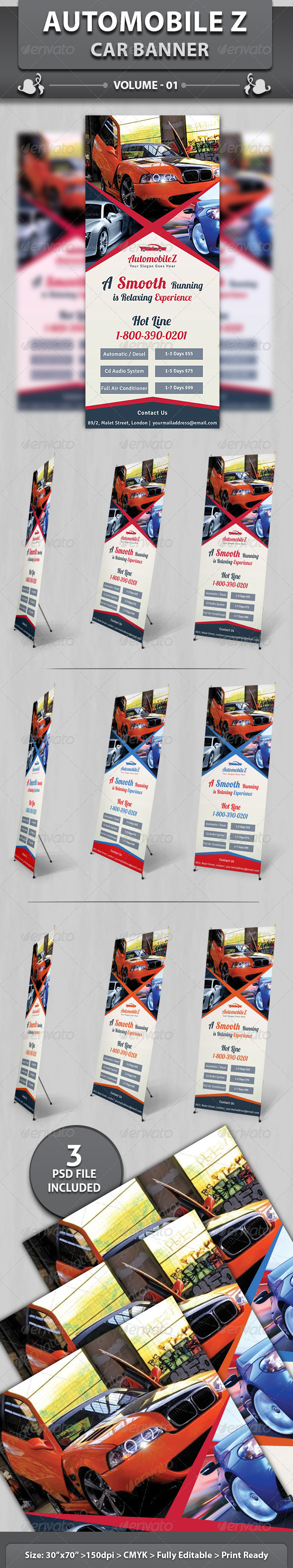 Automobile Business Banner | Volume 2 - Signage Print Templates