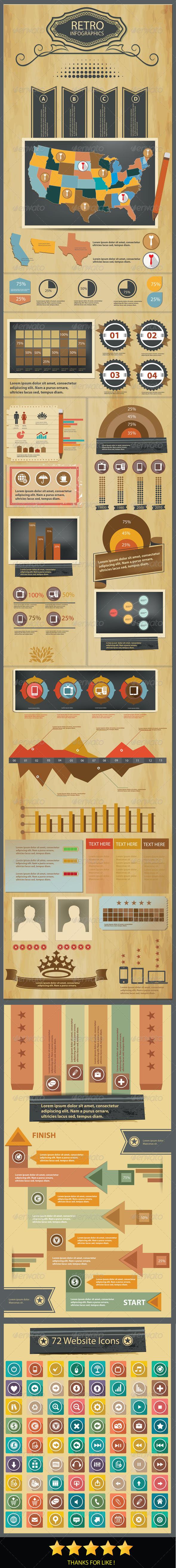 Grunge concept Infographics design - Infographics