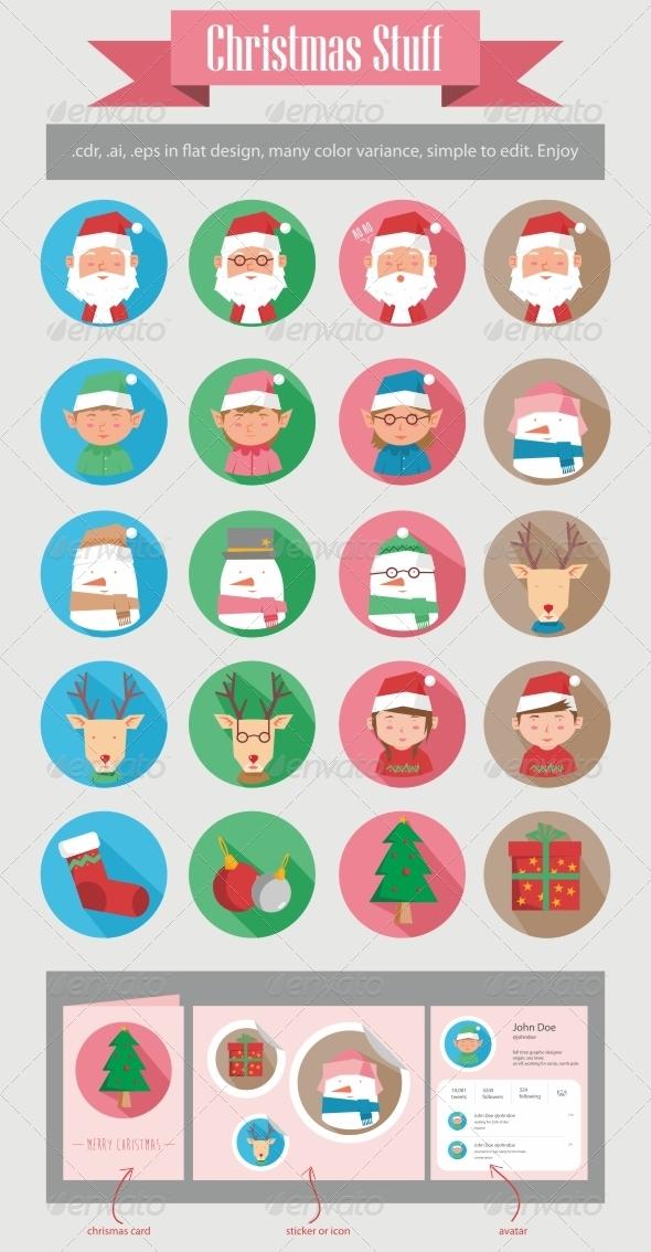 Christmas Stuff - Characters Vectors
