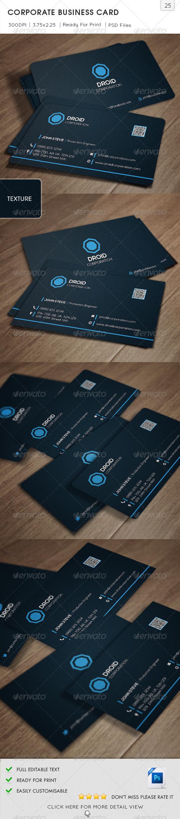 Corporate Business Card v25 - Corporate Business Cards