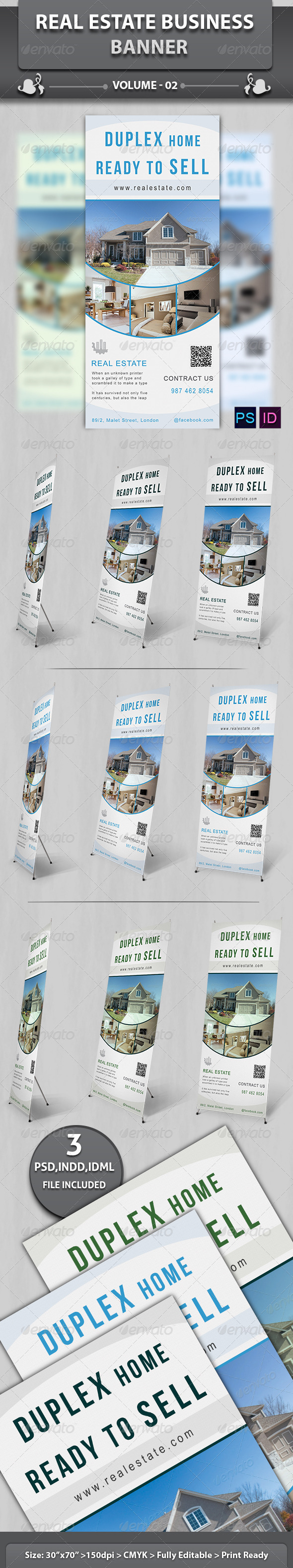 Real Estate Business Banner | Volume 3 - Signage Print Templates