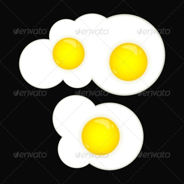 Fried Eggs - Food Objects
