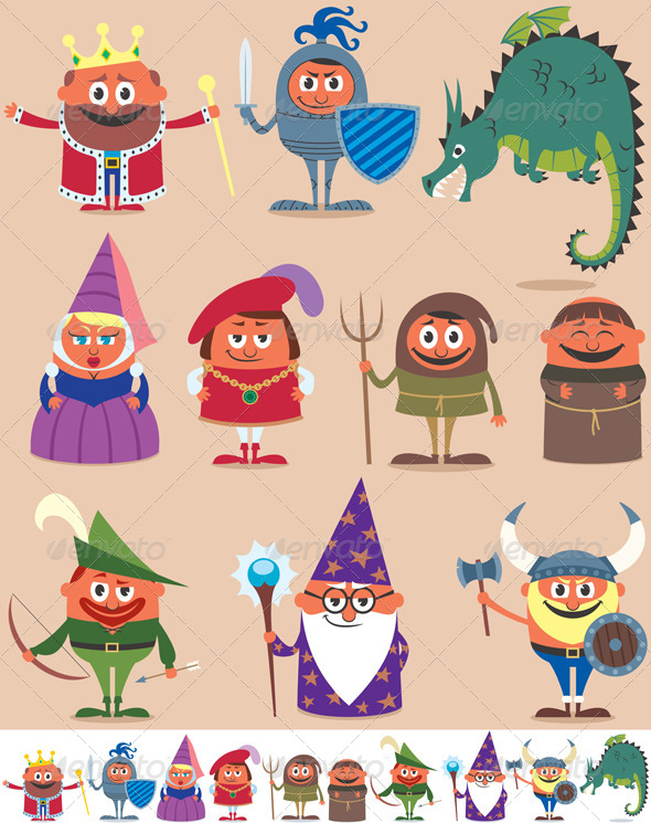 Medieval People - Characters Vectors