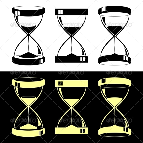 Hourglasses - Objects Vectors