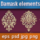 36 Damask Ornamental Elements - GraphicRiver Item for Sale