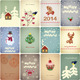 Set of Vintage Christmas Cards - GraphicRiver Item for Sale
