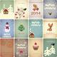 Set of Vintage Christmas Cards - GraphicRiver Item for Sale