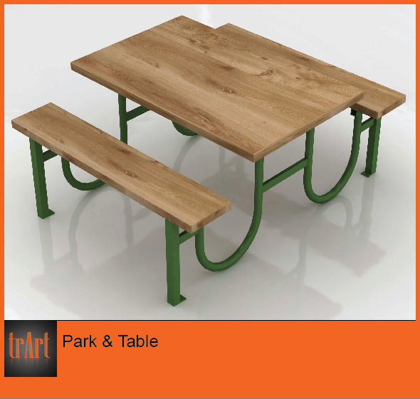 Park Table - 3DOcean Item for Sale