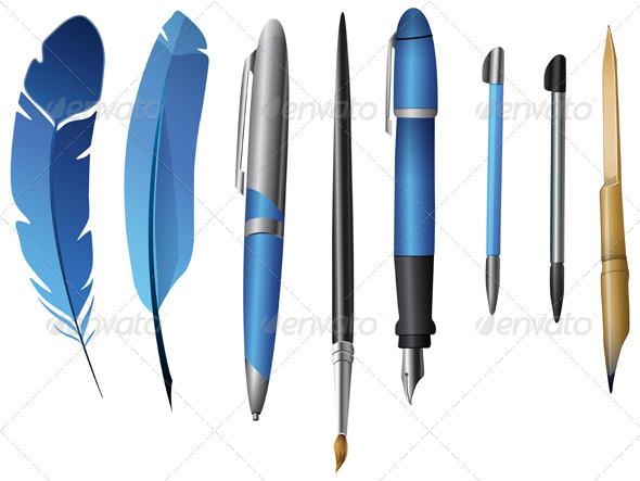 Writing Instrument - Illustration - Man-made Objects Objects
