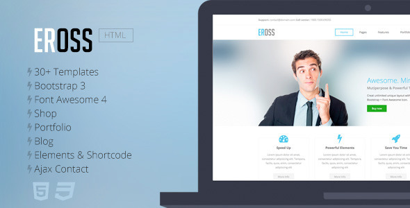 Eross – Responsive Multipurpose HTML5 Template