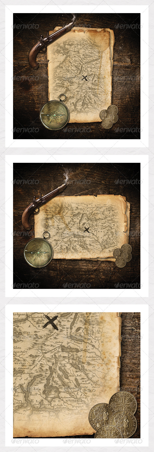 Treasure Map - Create your own - Scenes Illustrations