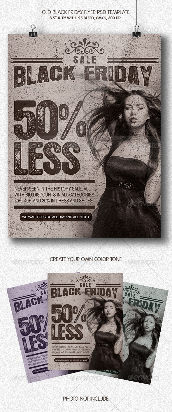 Old Black Friday | Flyer Template - Miscellaneous Events