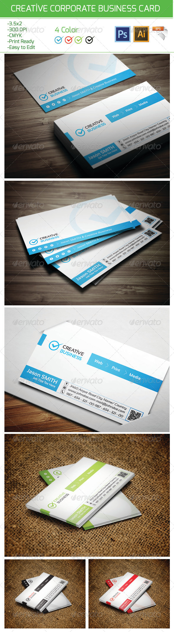 Creative Corporate Business Card 17 - Corporate Business Cards
