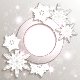 Christmas Snowflakes Greeting Card - GraphicRiver Item for Sale