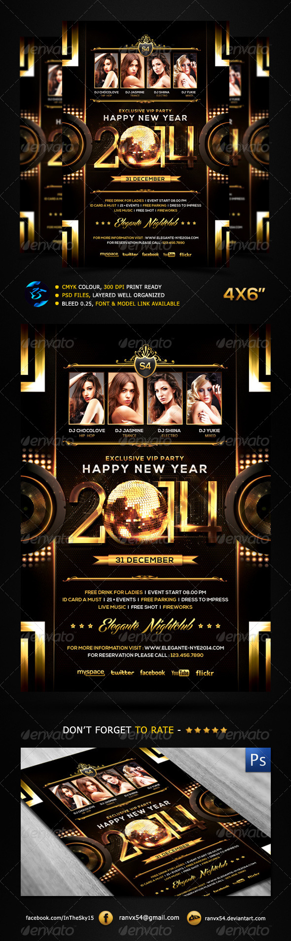 New Year 2014 Flyer Template - Events Flyers