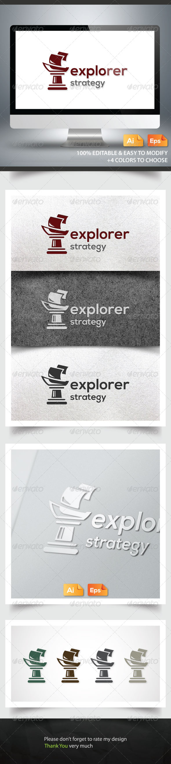 Explorer Strategy - Objects Logo Templates