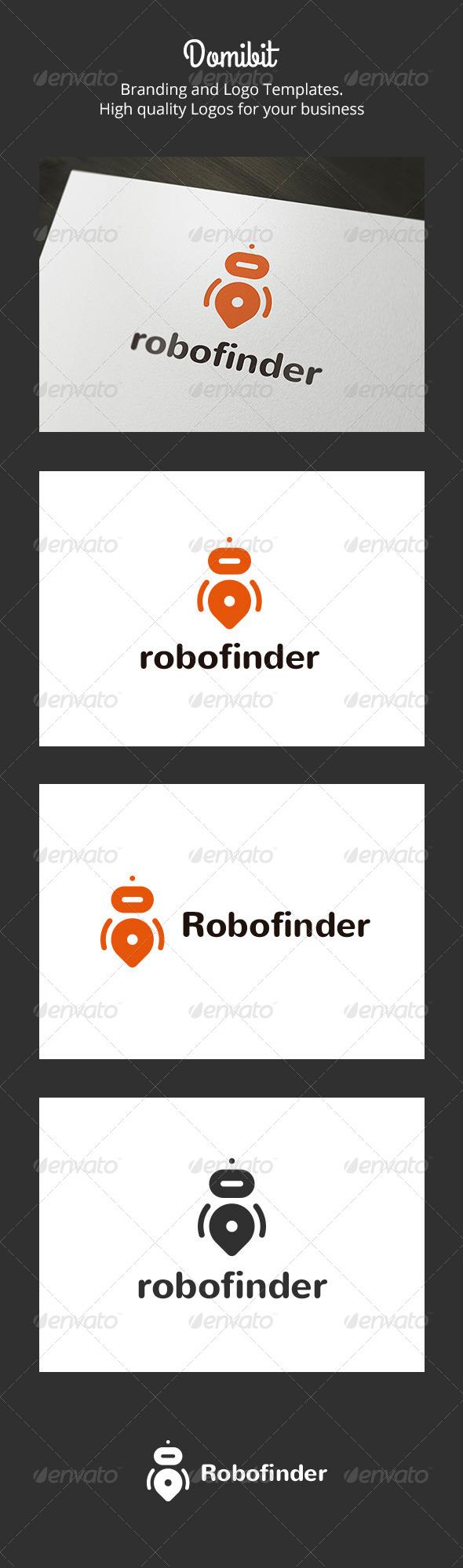 Robofinder - Robot Finder Logo - Objects Logo Templates