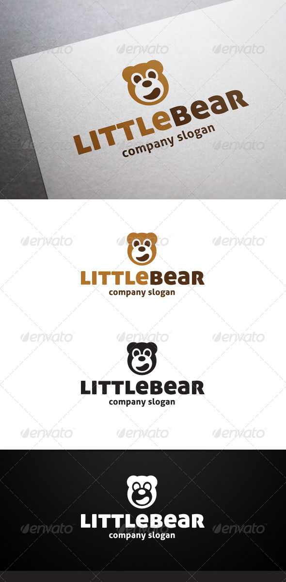 Little Bear Logo - Animals Logo Templates